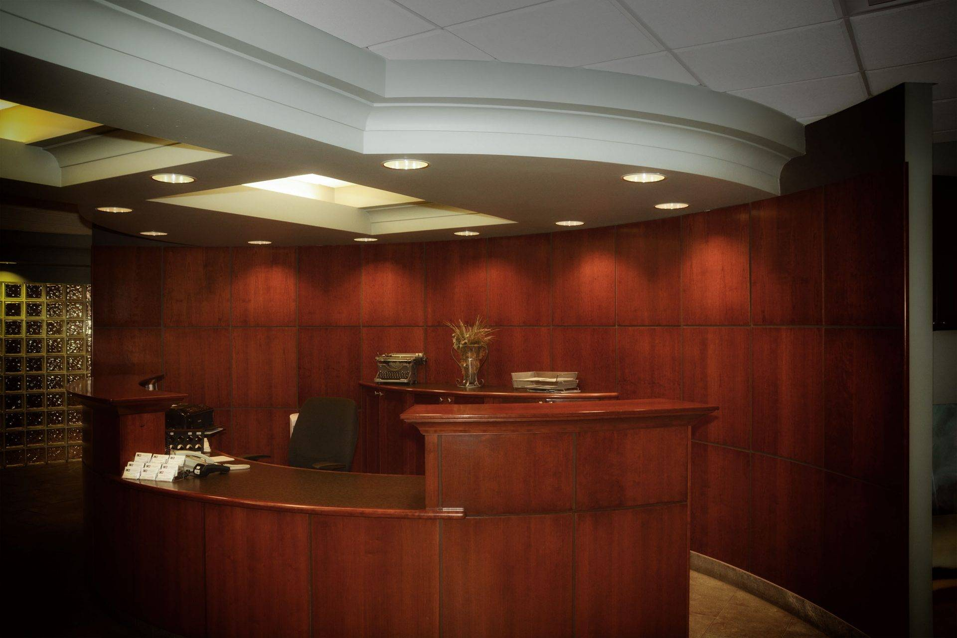 Reception desk in Chapman Riebeek law firm